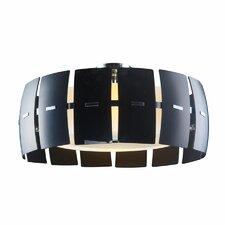Hendrix Modern Black 4 Light Drum Pendant