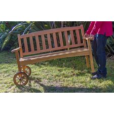 Country Teak Rolling Bench