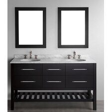 "Contemporary 60"" Double Vanity Set"