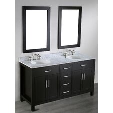Contemporary 60'' Double Vanity Set