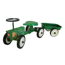Push/Scoot Tractor with Trailer