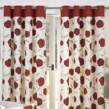 Penny Lined Eyelet Curtain Set