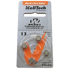 Air Cell Behind-the-Ear Replacement Batteries (Pack of 4)