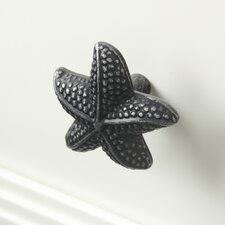 Starfish Knob, Vintage Pewter