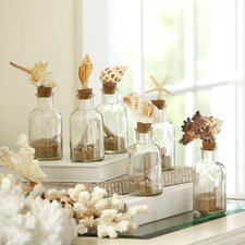 6 Piece Classic Glassware Seashell Decorative Bottle Set (Set of 6)