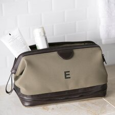 Leather Trimmed Dopp Kit