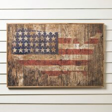 American Flag Wooden Print