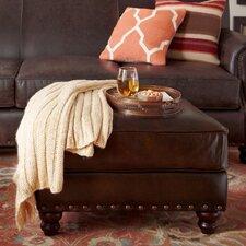 Landry Leather Ottoman