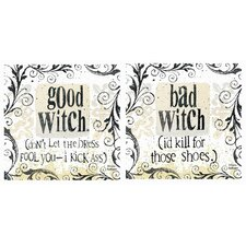 2 Piece Witchy Occasions Coasters Set