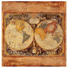 Old Map Occasions Coasters Set (Set of 4)