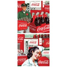 2 Piece Coke Collage Vending Occasions Coasters Set