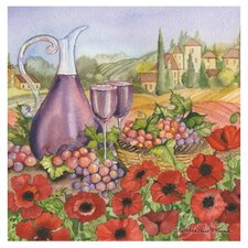 Poppies of Tuscano Occasions Coasters Set (Set of 4)