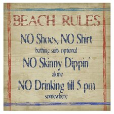 Beach Rules Occasions Coasters Set (Set of 4)