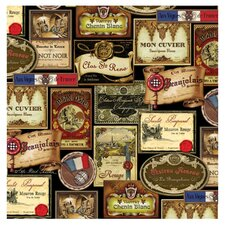 French Wine Labels Occasions Coasters Set (Set of 4)