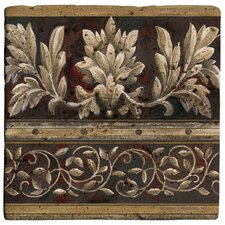 <strong>Thirstystone</strong> Frieze Motif Travertine Ambiance Coaster Set (Set of 4)