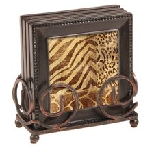 5 Piece Jungle Tropics Ambiance Coaster Gift Set