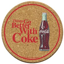 Coke Go Better Cork Coaster Set (Set of 6)