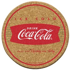 Coke Ice Cold Cork Coaster Set (Set of 6)