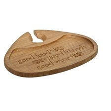 """Bamboo 7"""" Good Food Good Friends Good Wine Party Plate"""