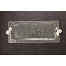 Shells Glass Rectangular Serving Tray