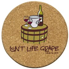 <strong>Thirstystone</strong> Isn't Life Grape Cork Coaster Set (Set of 6)