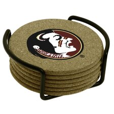 7 Piece Florida State University Cork Collegiate Coaster Gift Set