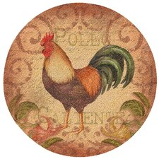 Caliente Rooster Cork Coaster Set (Set of 6)