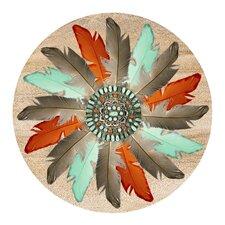 Feather Medallion Coaster (Set of 4)
