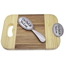 Bamboo Live the Life You Love Mini Serve Board with Spreader