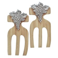 <strong>Thirstystone</strong> Grapes Bamboo Salad Hands (Set of 2)