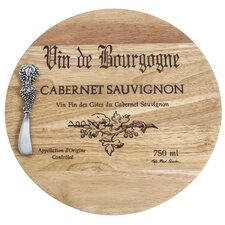 Wine Cask Cheese Board with Spreader
