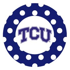 Texas Christian University Dots Collegiate Coaster (Set of 4)