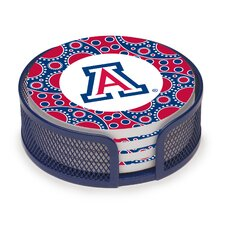 5 Piece University of Arizona Circles Collegiate Coaster Gift Set
