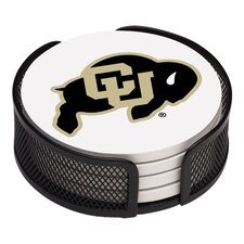 5 Piece University of Colorado Collegiate Coaster Gift Set