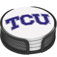 5 Piece Texas Christian University Collegiate Coaster Gift Set