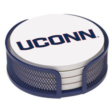 5 Piece University of Connecticut Collegiate Coaster Gift Set
