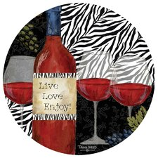 Zebra Wine Occasions Coaster (Set of 4)
