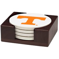 5 Piece University of Tennessee Wood Collegiate Coaster Gift Set