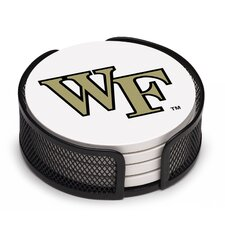 5 Piece Wake Forest University Collegiate Coaster Gift Set