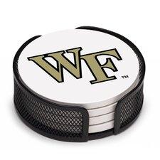 5 Piece Wake Forest University Collegiate Coaster Gift Set
