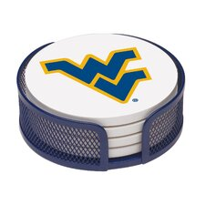 5 Piece University of West Virginia Collegiate Coaster Gift Set
