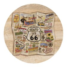 Route 66 Map Coaster (Set of 4)