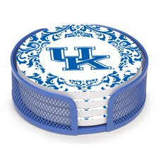 5 Piece University of Kentucky Collegiate Coaster Gift Set