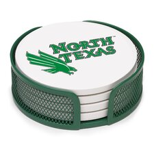 5 Piece North Texas University Collegiate Coaster Gift Set