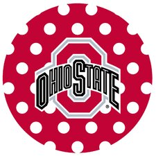 Ohio State University Dots Collegiate Coaster (Set of 4)