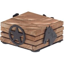Western Impressions Metal Coaster Holder