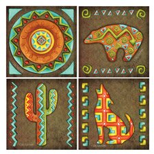 <strong>Thirstystone</strong> 4 Piece Striped Southwest Icons Coaster Set
