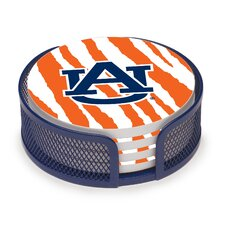 5 Piece Auburn University Stripes Collegiate Coaster Gift Set