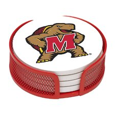 5 Piece University of Maryland Collegiate Coaster Gift Set