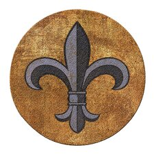 Fleur de Lis Cork Coaster Set (Set of 6)